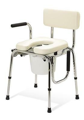 Medline/Guardian Drop Arm Commode Padded Seat Chair Bedside G98204