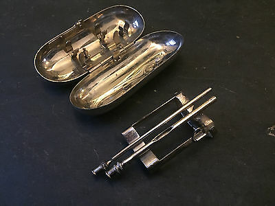 Vintage Surgical / Medical Metal Syringe Case with lift out needle rack