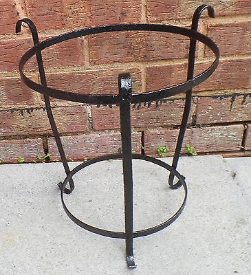 Vintage French Iron Plant Pot Holder Stand Shabby Chic Garden Outdoors/Indoors