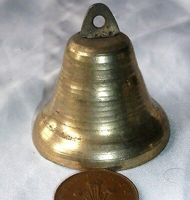 Brass Plate Iron Goat / Dog / Cow Bell - Good Loud Ring   V17
