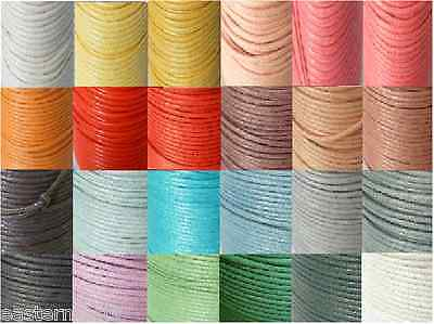 10m = 10 meters x 0.5mm Wax Waxed Cotton Cord Jewellery Findings Craft Beading