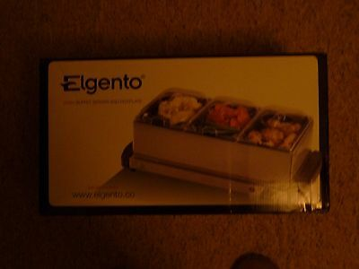 Elgento  3 Tray Buffet Server/hot Plate 200W Warming Party Dinner Food