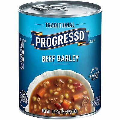 Progresso Traditional Soup, Beef Barley, 19-Ounce Cans Pack of 12
