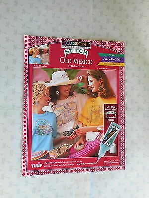 Colorpoint Paintstitching  Old Mexico  Transfer Pattern  Booklet   Barbara Baatz