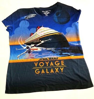 Disney Cruise Star Wars at Sea VOYAGE THROUGH THE GALAXY Ladies Shirt Size XL