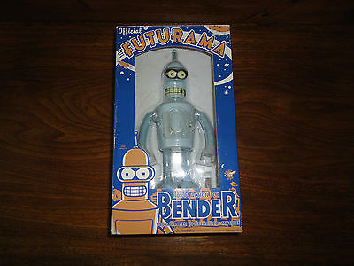 Futurama Official BENDER Robot Wind Up Action Toy in Box 2007 with Bottle