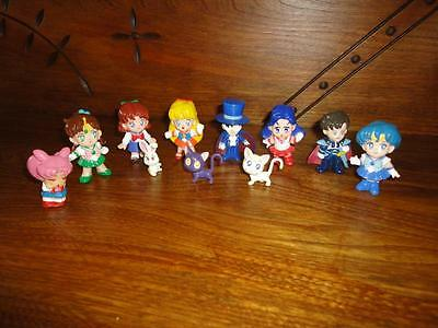 Sailor Moon Dolls & Figures Rubber Lot of 11 Irwin N. T/K 1995-96 Toei 2.5 i