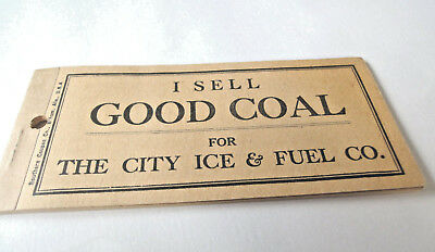 Rare Ice Coupon Book The City Ice & Fuel Co. Complete Good for 500 lbs.