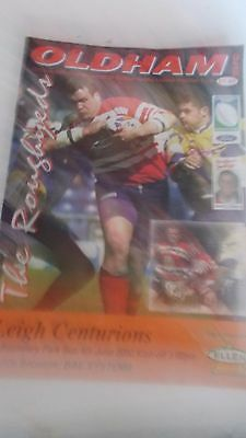 4.6.2000 Oldham Roughyeds v Leigh Centurions programme