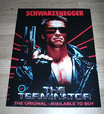 THE TERMINATOR - VIDEO - 1991 Original Film poster  12 x 9in ephemera