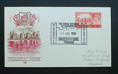 1969 GB - Wales Philatelic COVER - Investiture 1969 WITH 5/- STAMP