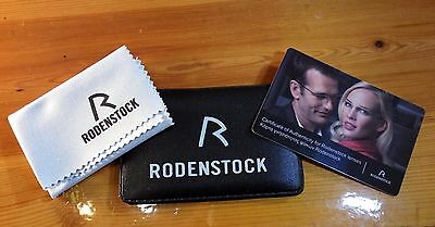 RODENSTOCK Certificate of Authenticity CARD MICROFIBER Cleaning CLOTH Glasses