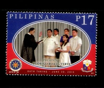 PHILIPPINES Oath Taking of President Rodrigo Roa Duterte MNH stamp