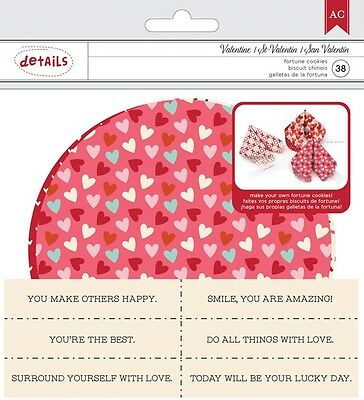 American Crafts Valentines Fortune Cookie Kit Hearts