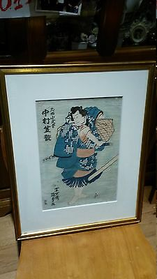 VINTAGE ORIGINAL JAPANESE PAINTING ON SILK? or RICE PAPER SIGNED