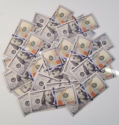 15x $100 NEW BILLS - Prop Money - Closest thing to Real! - High Quality Print!