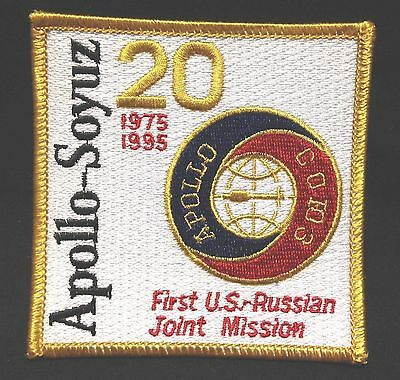 VINTAGE NASA Shuttle PATCH 20 Years Apollo Soyuz First US Russian Joint Mission