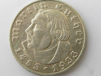 D635   DRITTES REICH 5,- Mark 1933 J Luther
