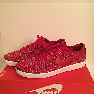 new concept e2977 63ce4 Nike Tennis Classic Ultra Flyknit Men s Shoes Red White 830704 600 SZ US 9.5