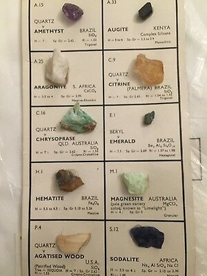 Collector's vintage mineral collection of 10 stones from around the world