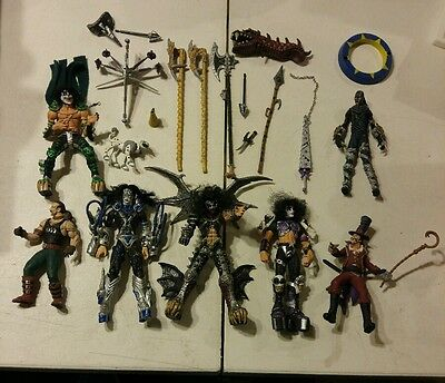 KISS Psycho Circus action figures loose Mcfarlane Toys 1999