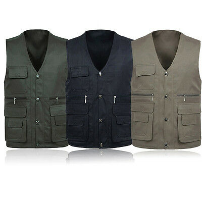 Outdoor Fishing Super No Irritation Adult Mens Multi Pockets Casual Vest H215
