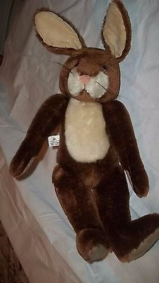 Merrythought Ironbridge Stuffed Animal Plush Brown Bunny Rabbit Doll Vtg England