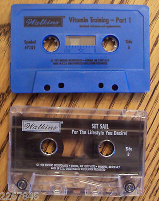 J.R. WATKINS Direct Selling 2 Training Cassette Tape LOT Natural Food Products