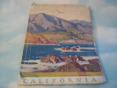 California SOUTHERN PACIFIC Railroad Travel Book from 1920s*Maurice Logan cover