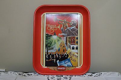 VINTAGE COCA-COLA DRINK TRAY BEALE STREET 1980's 12in x 10 in