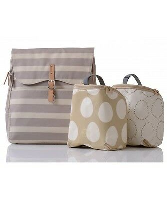 New Pacapod - Hastings Sand Stripe Backpack Nappy Bag - Free Express Shipping!