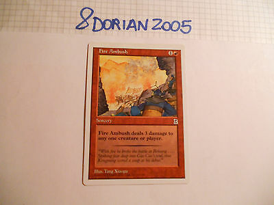 1x MTG Fire Ambush Magic EDH PORTAL Three Kingdoms P3K ING Inglese Legacy x1