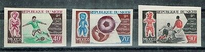 Niger.1970 World Cup.Soccer.Football.Fussball.Imperfor.MNH**