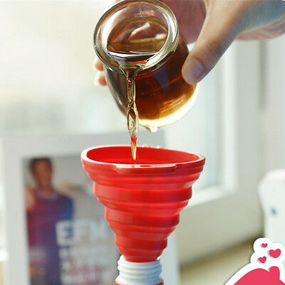 Silicone Folding Funnel Collapsible Mini Silicone Hopper Kitchen Fold Oil Water