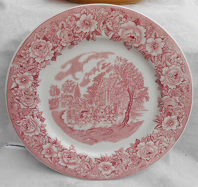 "Shenango Restaurant Plate Charger 11 1/4"" Roselyn Pink Usa Transferware Vintage"