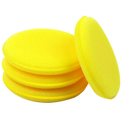 12Pcs Car Waxing Polish Foam Sponge Wax Applicator Cleaning Detailing Pads 10cm