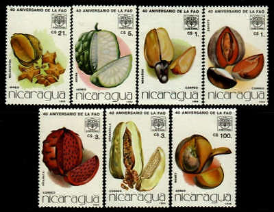 Fruits & Nuts by Nicaragua MNH Sc 1546-52