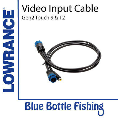 NEW Video Input Cable - Lowrance HDS Touch 9 & 12 from Blue Bottle Fishing