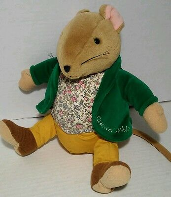 "Eden 9"" Samuel Whiskers Plush Mouse Brown Green Coat Rat Beatrix Potter"