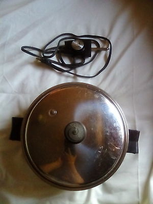 Saladmaster 7817 Stainless Steel Electric Skillet Complete and Works  !