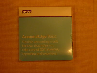 MAC Accounting MYOB Account Edge Basic 2014. Small Business Solution.