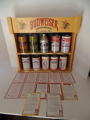 The Hamilton Collection Complete Ultimate Budweiser Beer Can Collection Box COA