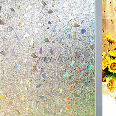 45*100cm 3D Privacy Frosted Home Office Removable PVC Window Glass Film Stickers