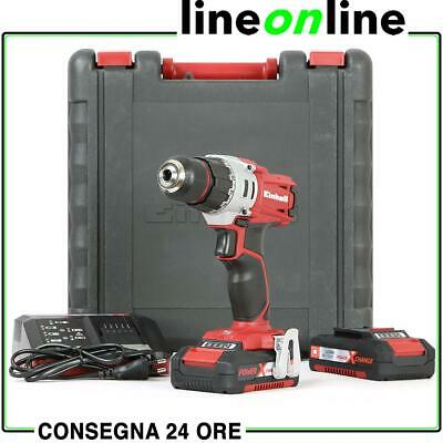 Trapano avvitatore Einhell 18V TE-CD 18/2 Li Kit 2 batterie