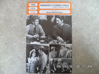 CARTE FICHE CINEMA 1948 MASSACRE A FURNACE CREEK Victor Mature Coleen Gray