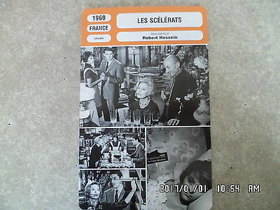 CARTE FICHE CINEMA 1960 LES SCELERATS Michele Morgan Robert Hossein