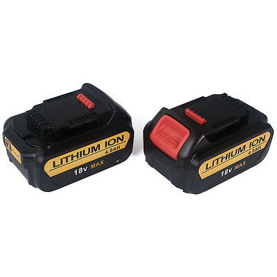 2XBattery For Dewalt DCB184 DCB185 18V 4.0Ah XR Lithium-Ion Slide 18 Volt Li-Ion