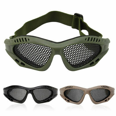 Tactical Paintball Goggles Glasses Steel Wire Mesh Airsoft Eye Game Protector