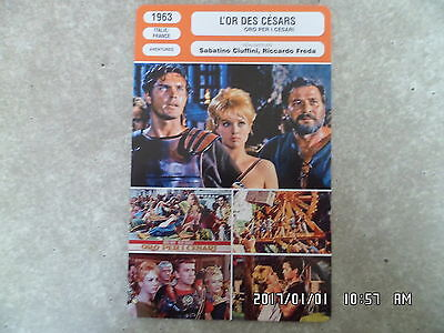 CARTE FICHE CINEMA 1963 L'OR DES CESARS Jeffrey Hunter Mylene Demongeot