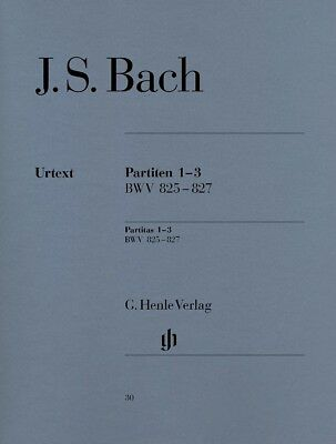 Bach - Partitas 1-3 BWV 825-827 - Piano - Henle Edition 30 AMEB Gr 8 & ASSOC